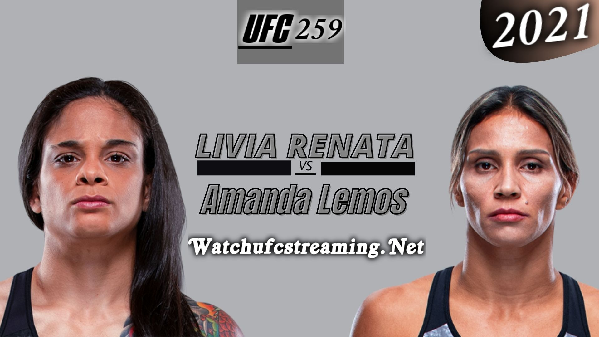 UFC 259: Livia Renata Vs Amanda Lemos Highlights 2021 | Strawweight